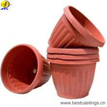 Pot de fleur en plastique fait sur commande d'OEM pour la décoration de jardin