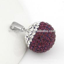High quality 20 mm crystal shamballa crystal ball pendant