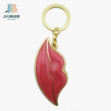 Пользовательские рекламные подарки оптом красный цвет металлический Брелок для украшения