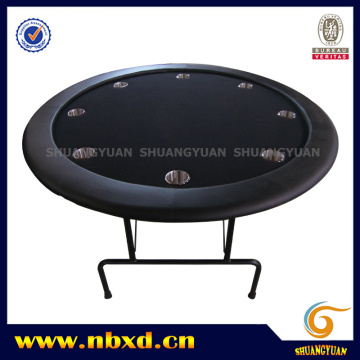Table de poker ronde avec jambe de fer (SY-T21)