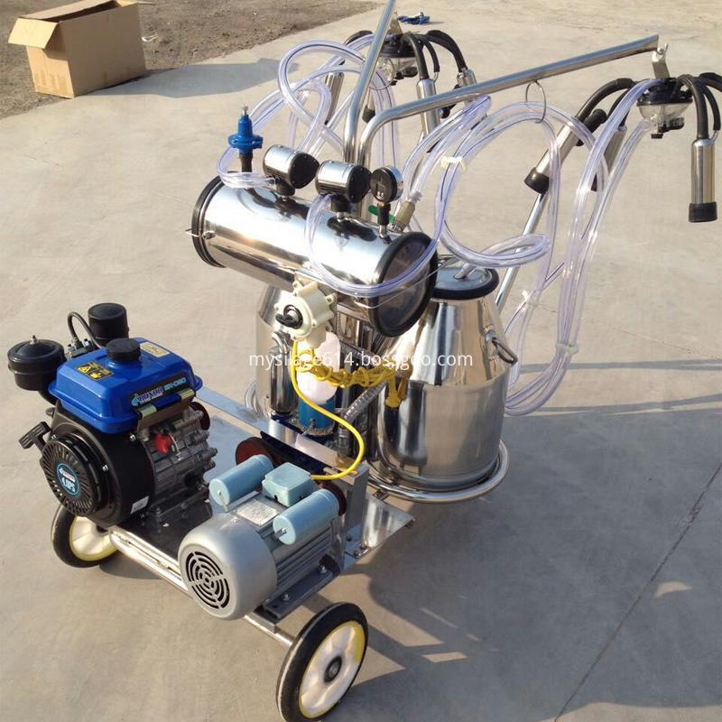 milking machine with gasoline and vacuum pump