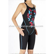 Printed bonded seam woman one piece swimsuit 2014