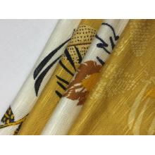 Rayon Spandex Slub Print Fabric