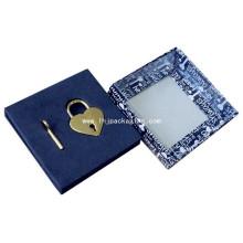 Высококачественная подарочная упаковка с замком и ключевой бумажной коробкой с окном