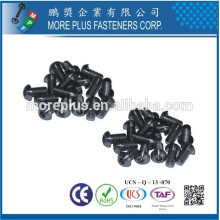 Fabriqué en Taiwan ISO7380 Fabricant de matériel Fabricant Fabricant M2.5 Bouton en acier inoxydable Touche à tête creuse
