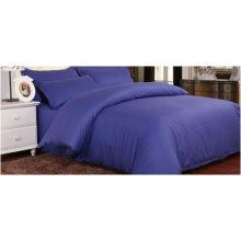 Folha de cama por atacado do algodão da listra da casa feita sob encomenda 3cm
