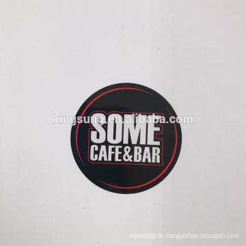 Heiße Verkäufe-Selbstbeschriftung, die selbstklebendes Papier kundengebundenen runden Logo-Entwurfs-Aufkleber druckt