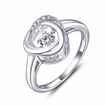 925 silberne Schmucksache-Tanzen-Diamant-Ringe Großverkauf