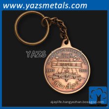 custom made keyring trolley coin