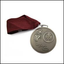 Никелированная металлическая медаль с лентой (GZHY-JZ-015)