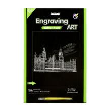 2015 Kunstzubehör Paper Crafts Rubbelkarten Silber Westminster Abbey