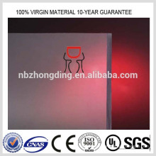 semitransparent plastic sheet frosted polycarbonate sheet