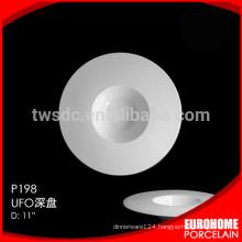HRW302 hotel and restaurant used microwave safe ceramic plate/dish, washer safe porcelain plate