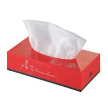 Sostenedor de caja de papel facial tejido plástico al por mayor decorativo de lujo del coche público de lujo rojo