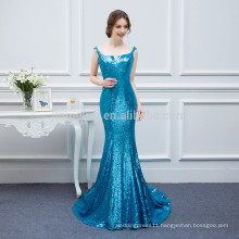 Gorgeous Sequined Mermaid Long Evening Dresses Robe De Soiree 2016 Free Shipping Prom Party Gowns Vestidos De Noche Largo