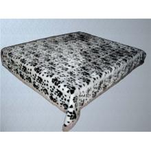 Estampado de leopardo y manta de poliéster barnizado tallado