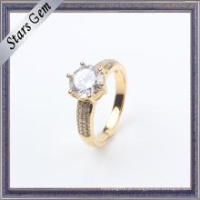 Moda zircônia cúbica banhado a ouro jóias de prata de moda de casamento