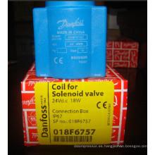 Bobina de la válvula de solenoide de Danfoss (018F6757)