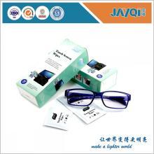 Toallitas húmedas con lente para gafas de paquete único