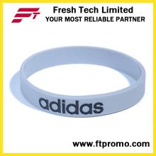 Customized Company Bracelet en silicone pour cadeau promotionnel