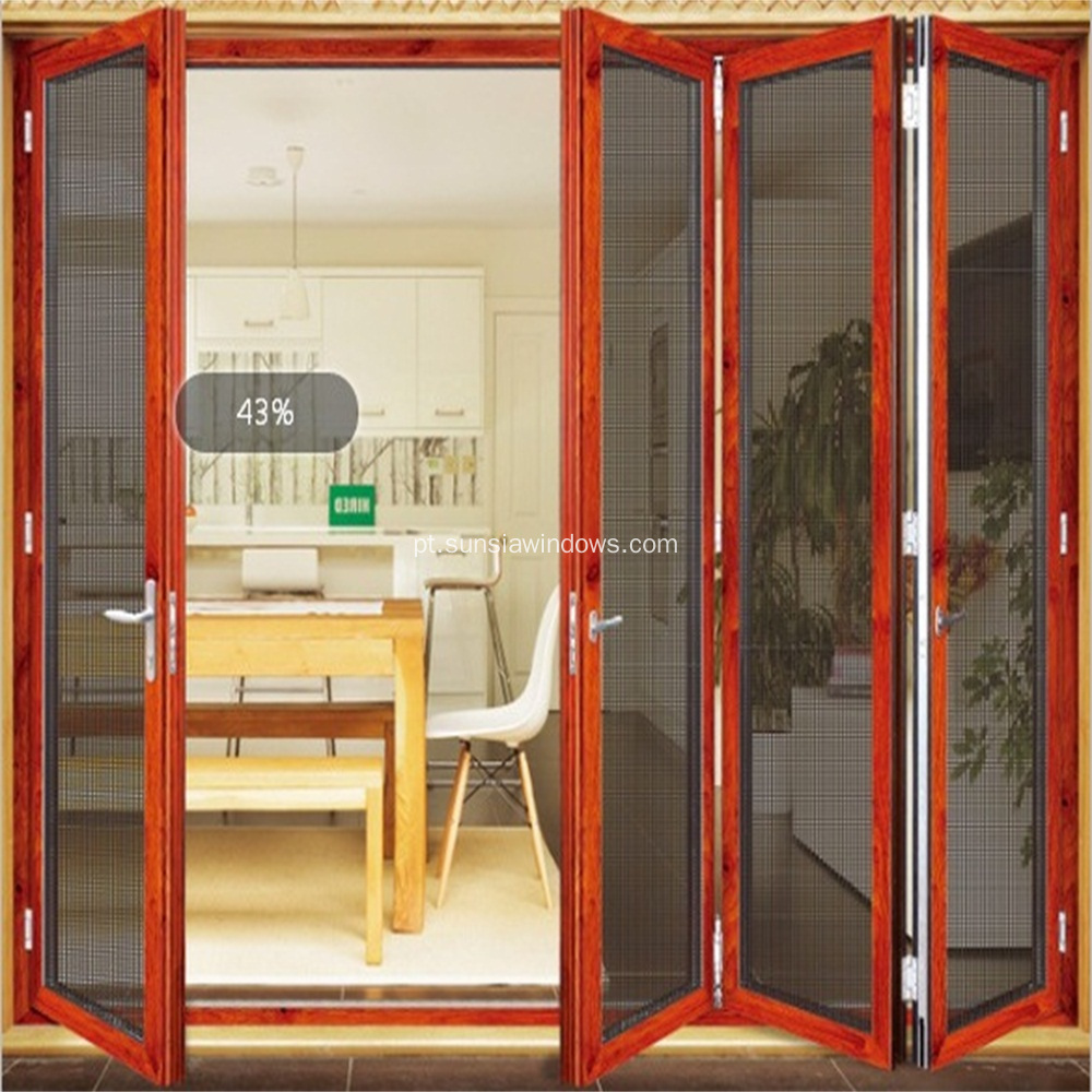 Alumínio Folding Security Screen Door