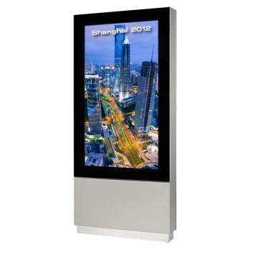 Affichage LCD 65 pouces à affichage numérique pour station routière
