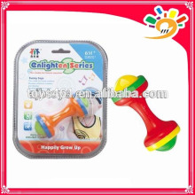 Newest Baby Enlighten Series Rattle Bell Toy,Cute The Dumbbell Design Rattle Bell