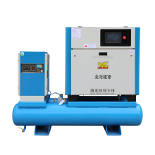 Energy Saving 12 Bar Screw Air Compressor 7.5kw Screw Compressor with Air Dryer and Tank Belt Driven Air Compressor