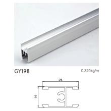 Mitte H Klemme Eloxiertes Silber Aluminium Profil für Kleiderschrank