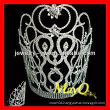Elegent small decorative flower design crystal pageant tiara crown