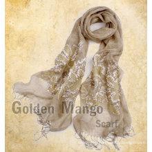 Bufanda de lino del bordado de la manera para la estación del resorte