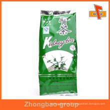 al material side gussets tea packaging pouch with your design