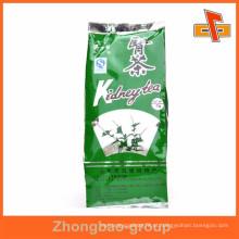 Al material lado gussets bolsa de embalagem de chá com o seu design