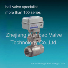 2-PC Electric Motorized Stainless Steel Ball Valves