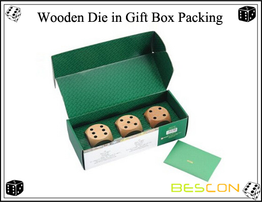 Wooden Die in Gift Box Packing