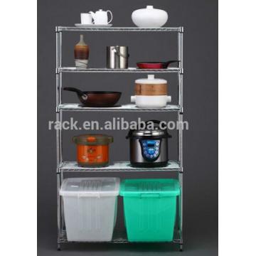 Rack de cozinha em aço inoxidável com aprovação NSF