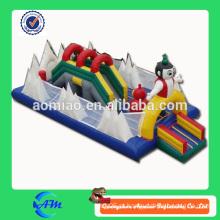 Corrediça inflável inflável do bouncer do parque inflável inflável feliz da cidade 0.55mm do PVC para a venda