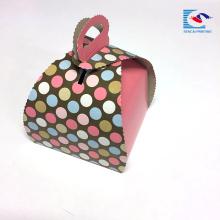 Caixa de papel personalizada do bolo de papel de arte do produto comestível da impressão