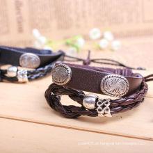 Pulseira de couro pulseira de moda KSQN-14