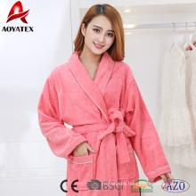 Hot selling fancy cotton women thick bathrobe