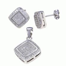 Joyería fina de la manera 925 joyería de la plata esterlina fijaron el ajuste micro