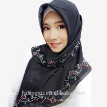 Eid al-Adha muslim fashion voile stone printed plain women shawl scarf hijab