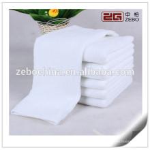 100% Cotton Plain Woven Towel Cheap Custom White Face Towel