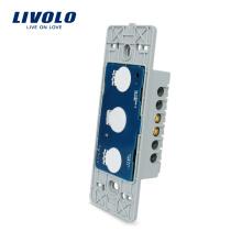 Livolo US Interrupteur Tactile Murale Sans Verre 110 ~ 250V Commande De Lumière 1 Tranche avec Indicateur LED VL-C501-11
