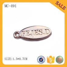 MC491 изготовленный на заказ перфорированный штамп ювелирных изделий очарование золотой овальный теги шарм подвеска