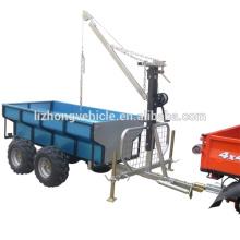 Chine Best 360 degree revolved boom 1.5T load capacity atv trailer,atv timber trailer,atv log trailer