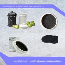 fabricação de todos os tipos ativado almofada de filtro de vinho de carbono