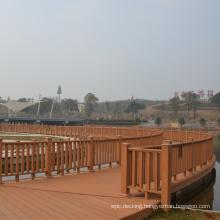 Long Lasting Wood Texture Landscaping Wholesale Wood Plastic Composite WPC Railing