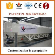 Silo de ciment horizontale respectueux de l'environnement avec convoyeur à vis horizontal