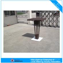 Современные алюминиевые поли wicker ротанга бар стол